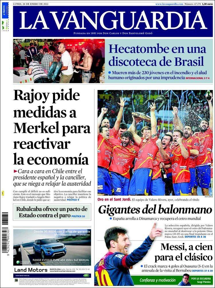 Portadas Del 28 De Enero 2013 Portadas De Diarios Portadas Diario Español
