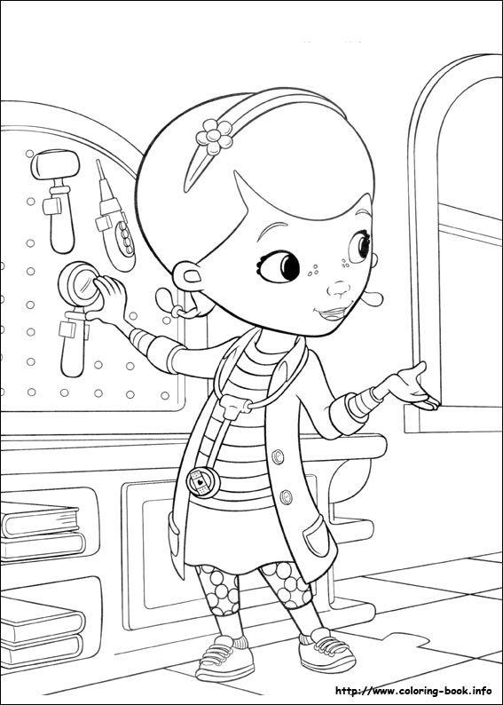 doc mcstuffins coloring picture disney coloring pages pinterest