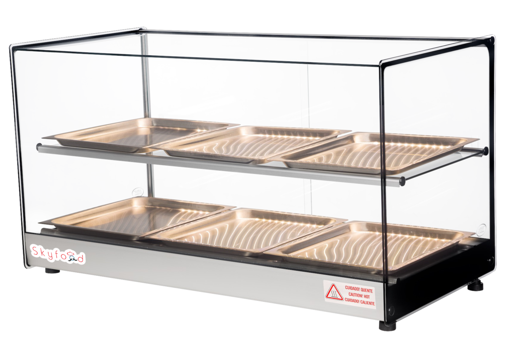 Commercial Countertop Food Warmer Display Case 33 With 6 Trays