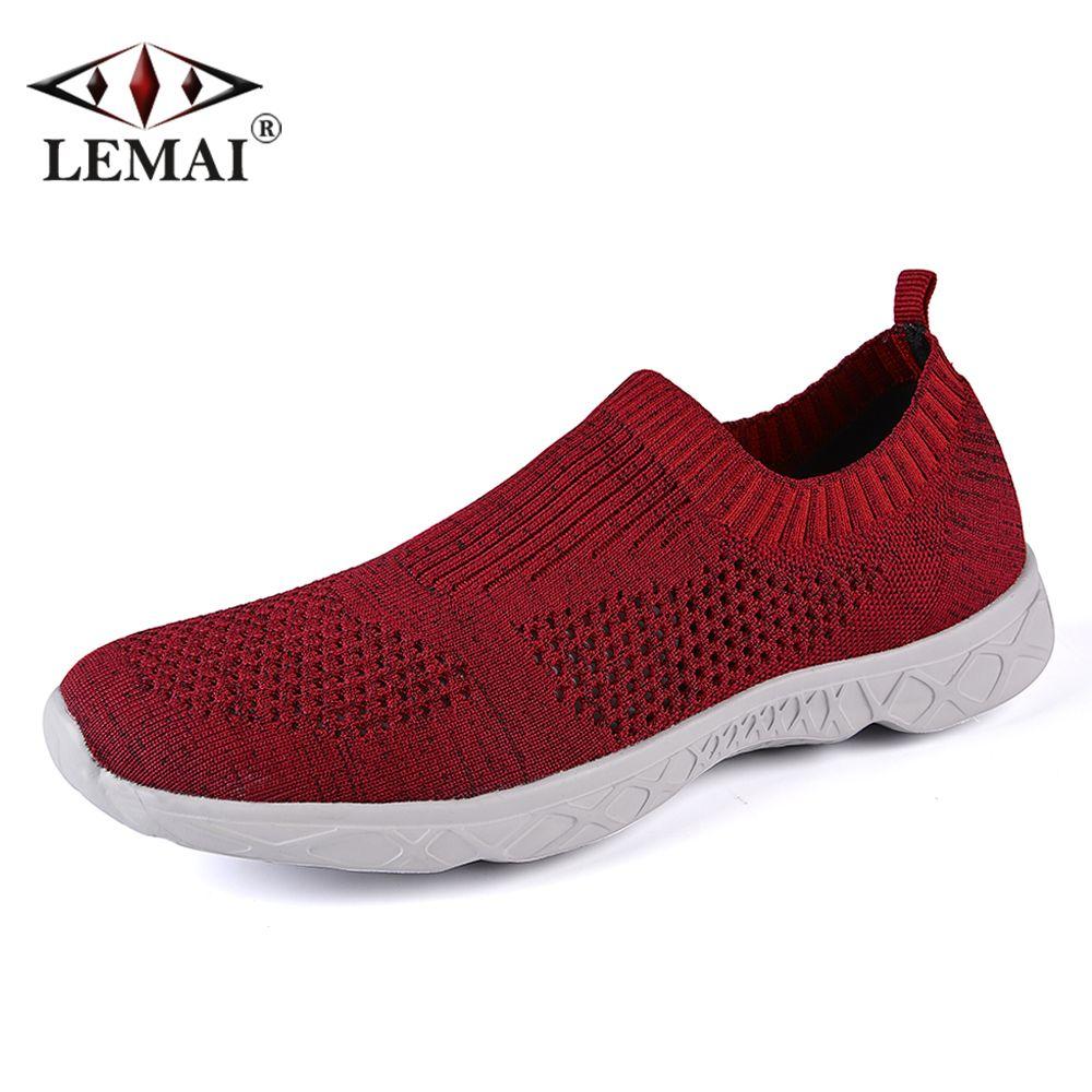 a55f940c6 Lemai новый простой Для мужчин Кроссовки летняя дышащая Открытый свет  Спортивная обувь для мужчин Спортивное Boy Спорт черный кроссовки fb030m