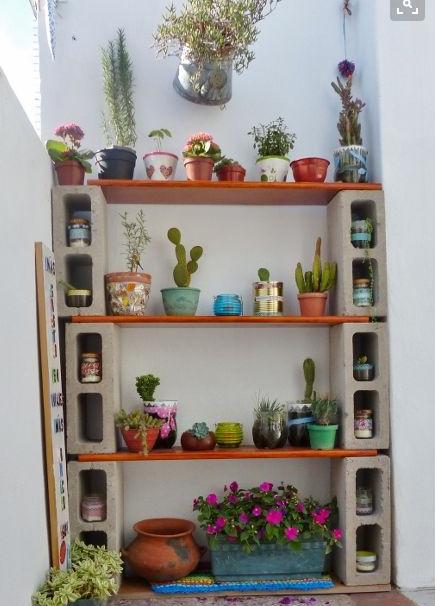 quand un bloc de b ton devient un objet design espacios garden balcony garden y cactus decor. Black Bedroom Furniture Sets. Home Design Ideas