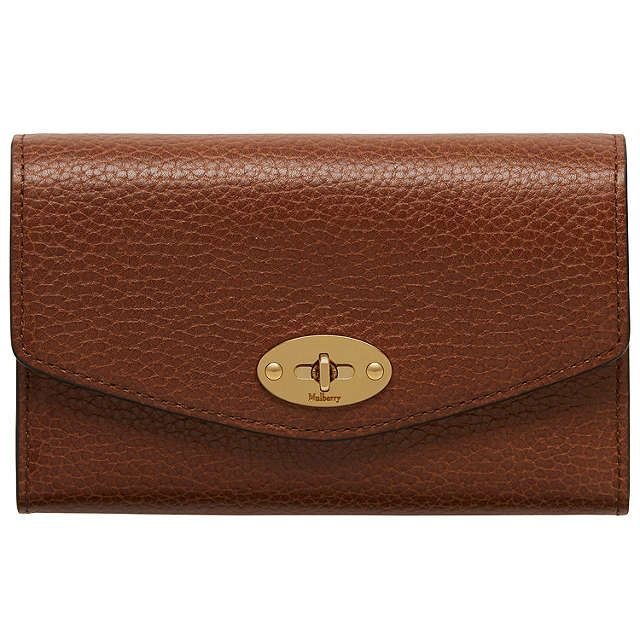 fdbee9c4aa BuyMulberry Darley Grain Veg Tanned Leather Wallet, Oak Online at  johnlewis.com