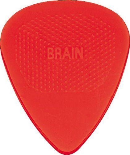 Snarling Dogs Brain Guitar Picks Red  .73mm 12 picks in Tin Box