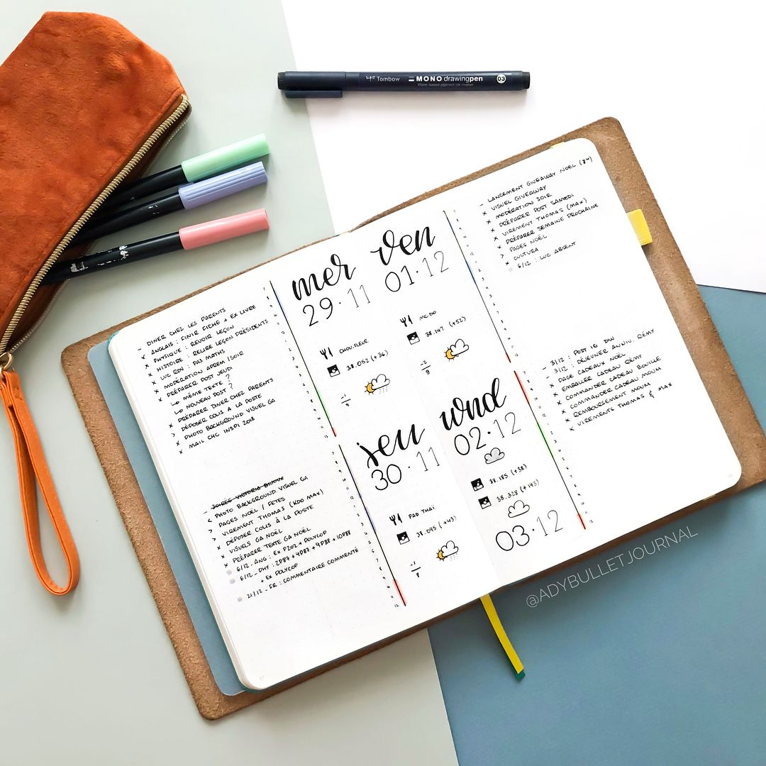 """1,842 Likes, 45 Comments - Ady's Bujo ⭐️ (@adybulletjournal) on Instagram: """" Last week in my #bulletjournal  Leave a comment below telling me what you think of these…"""""""