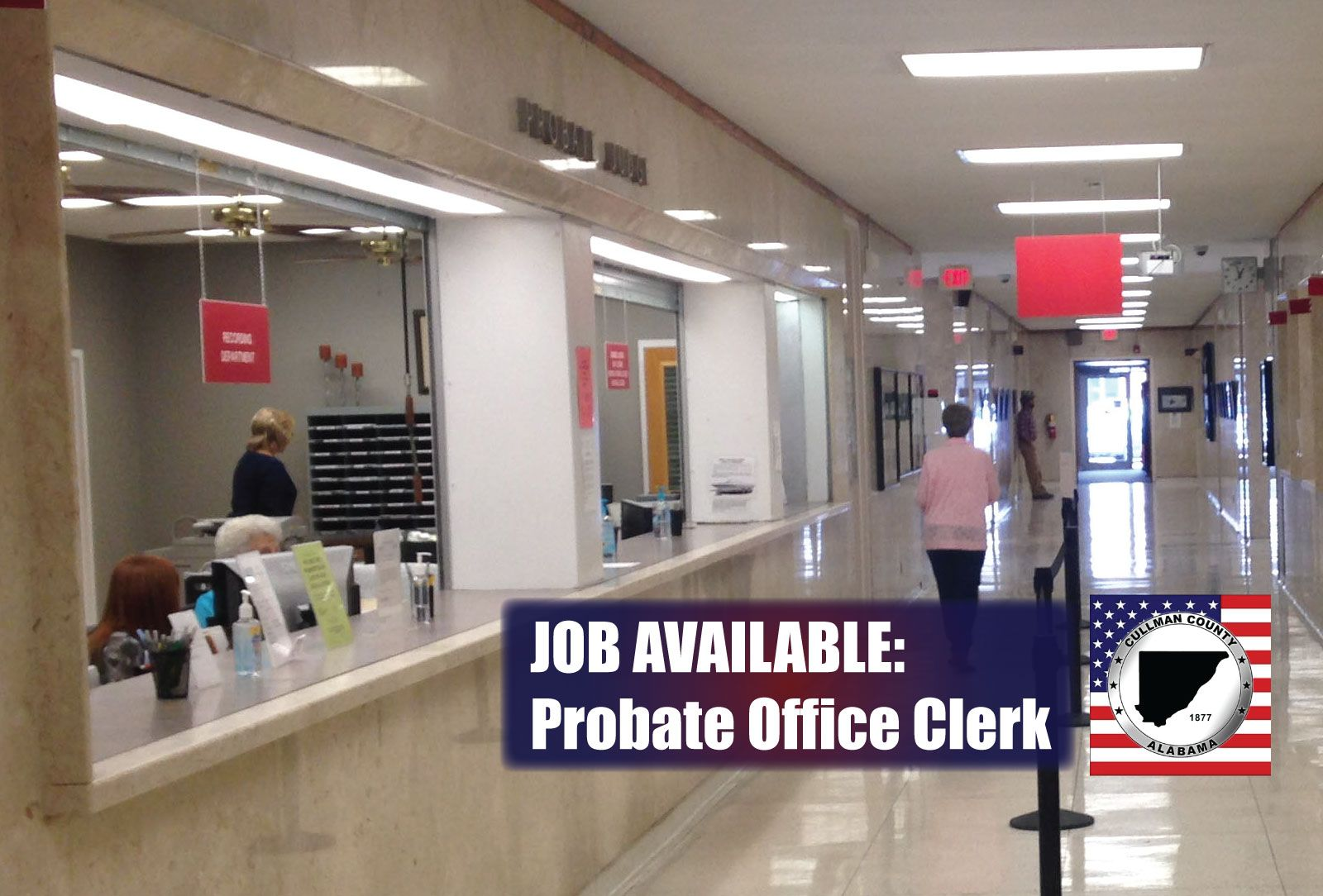 Job Available Cullman County Probate Office Clerk Department