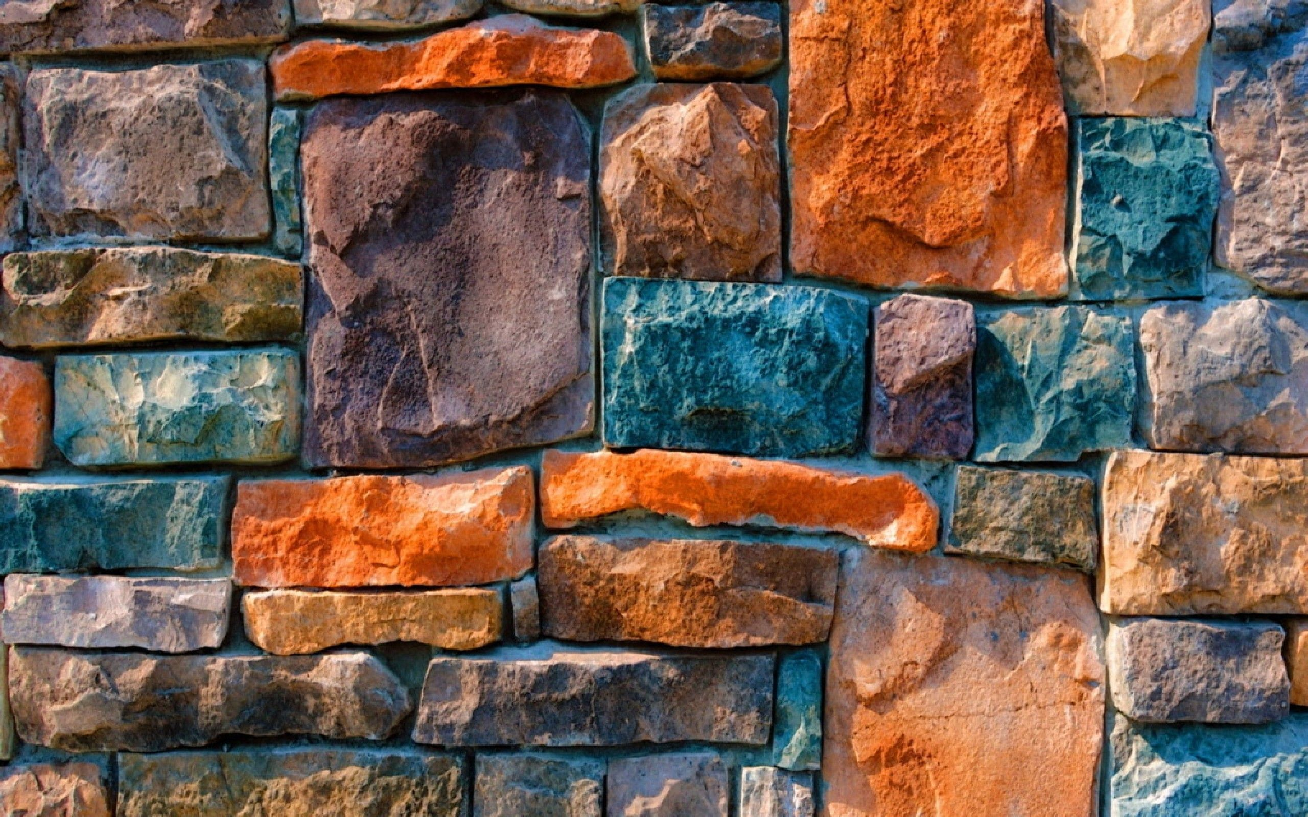 Colorful Stone Wall Pattern Background New HD Wallpapers