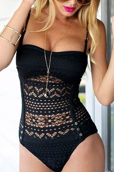 ab866b9aa9 Sheinlove Sexy Haltered Knitted One Piece Swimsuit  swimsuitsonepiece.  Sheinlove Sexy Haltered Knitted One Piece Swimsuit  swimsuitsonepiece Bathing  Suits ...