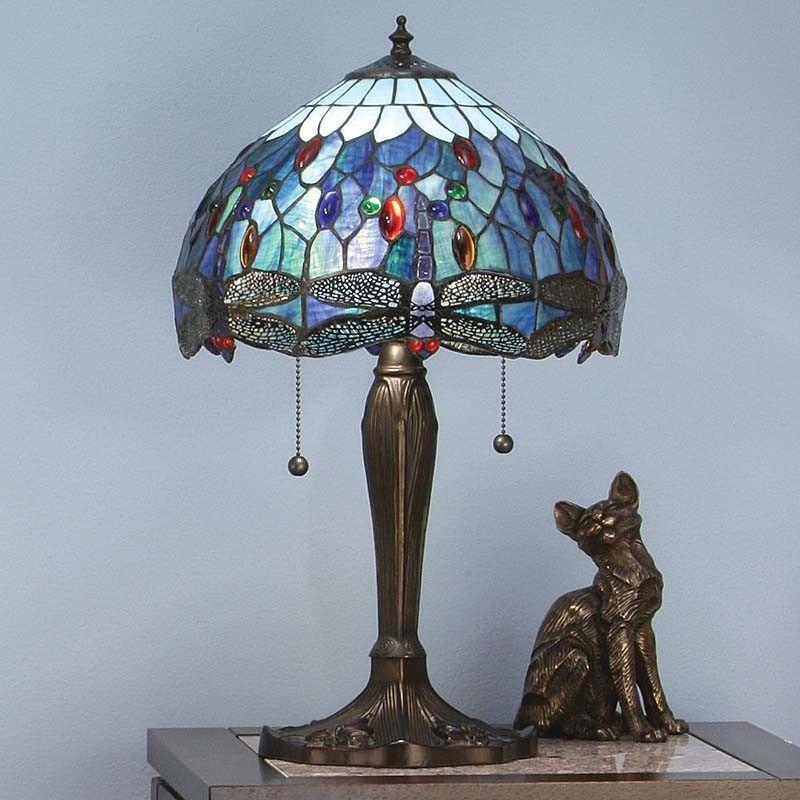 Blue Dragonfly Medium Tiffany Table Lamp T009SH30 U0026 DB6 U2013 Tiffany Lighting  Direct