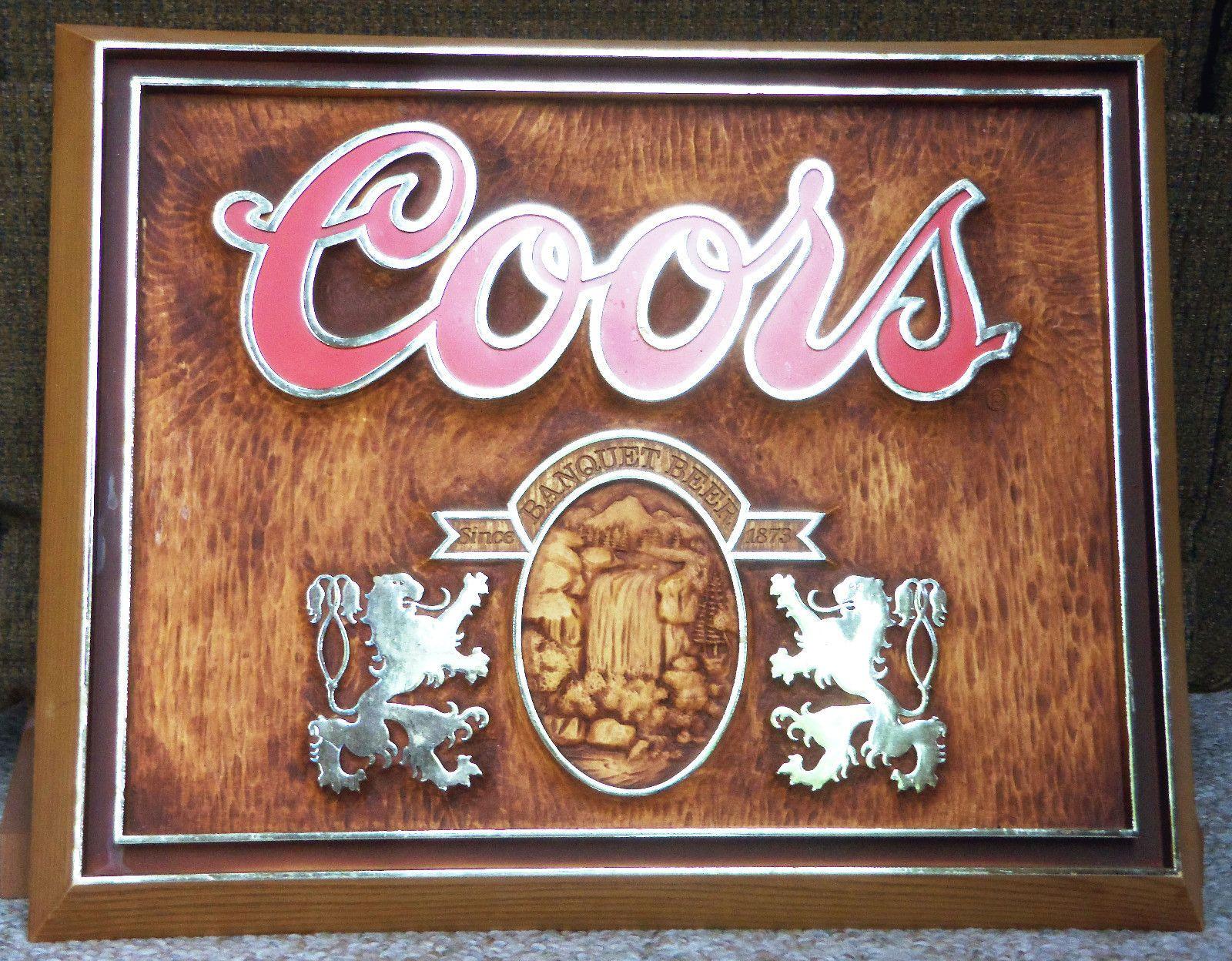 Details about Coors Light Fluorescent 3D Bar Man Cave Beer