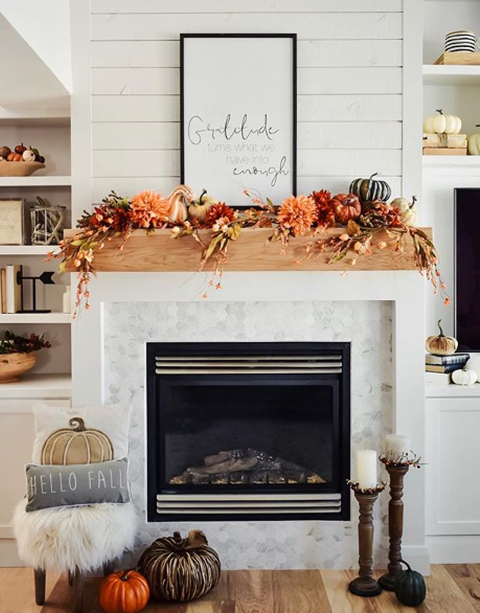 FALL DECORATING IDEAS #fallmantledecor