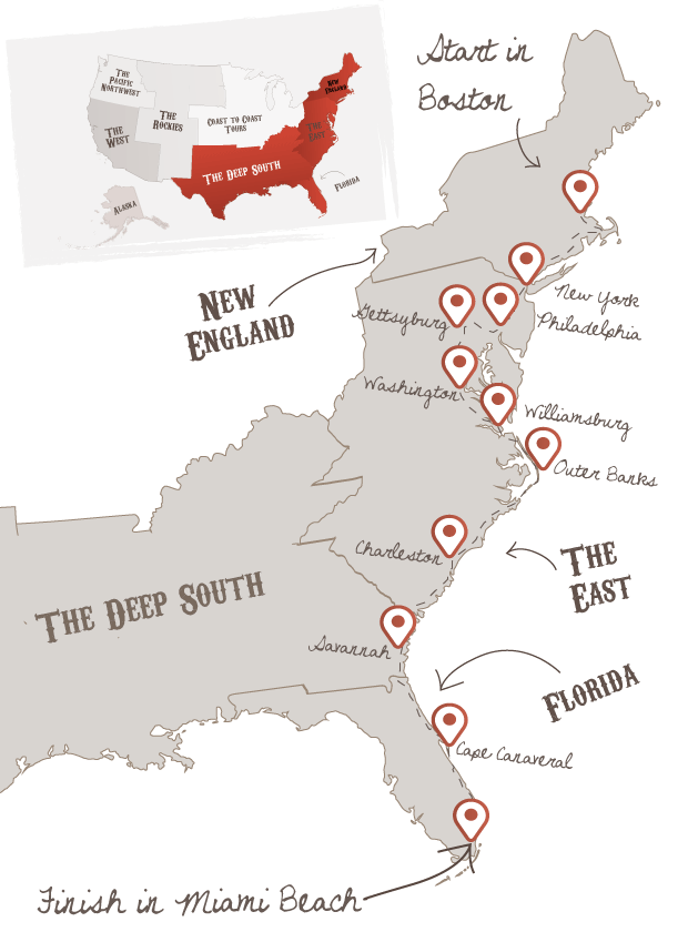 Ultimate East Coast in 2018 | Places want to go | Pinterest | Road ...