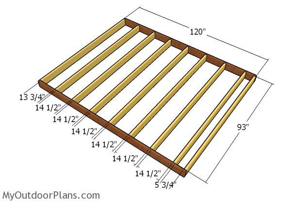 8x10 Shed Plans MyOutdoorPlans Free Woodworking Plans