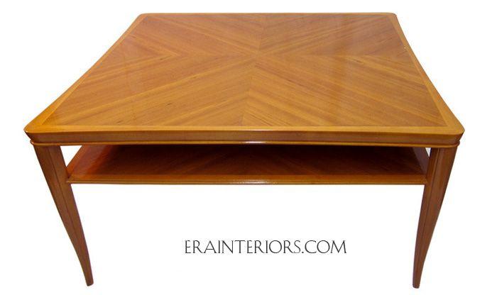 Custom Art Deco Teak Coffee Table Era Interiors
