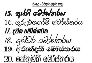 Sinhala Fonts free download thibus