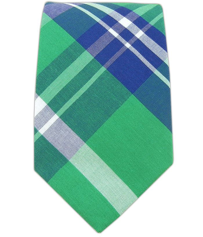 Savannah Plaid (Green - Cotton) by TheTieBar.com