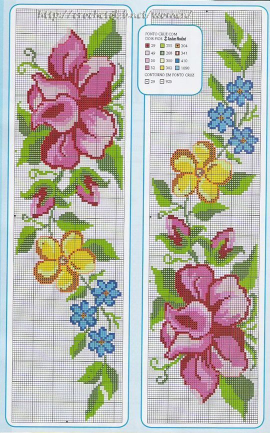 78 Graficos De Flores Em Ponto Cruz Para Imprimir Ponto Cruz