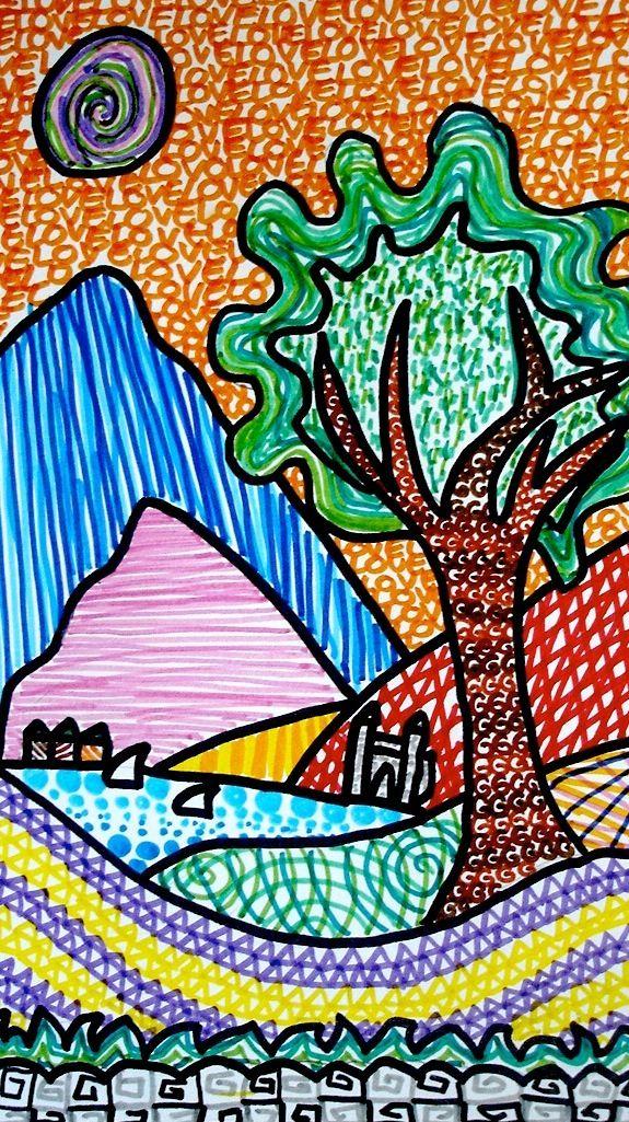 Paesaggi Di Texture Opejutut Arte Prima Elementare Arte Di