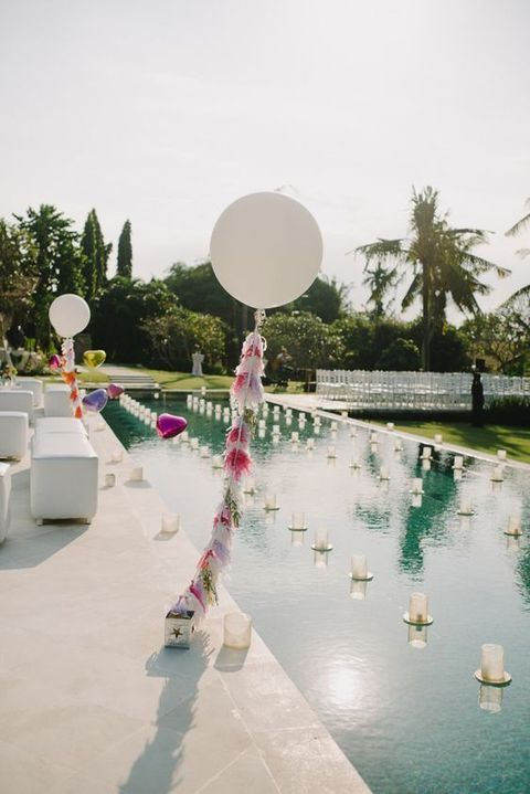33 Cool Poolside Wedding Ideas Pool Wedding Decorations Wedding Pool Party Decorations Pool Wedding
