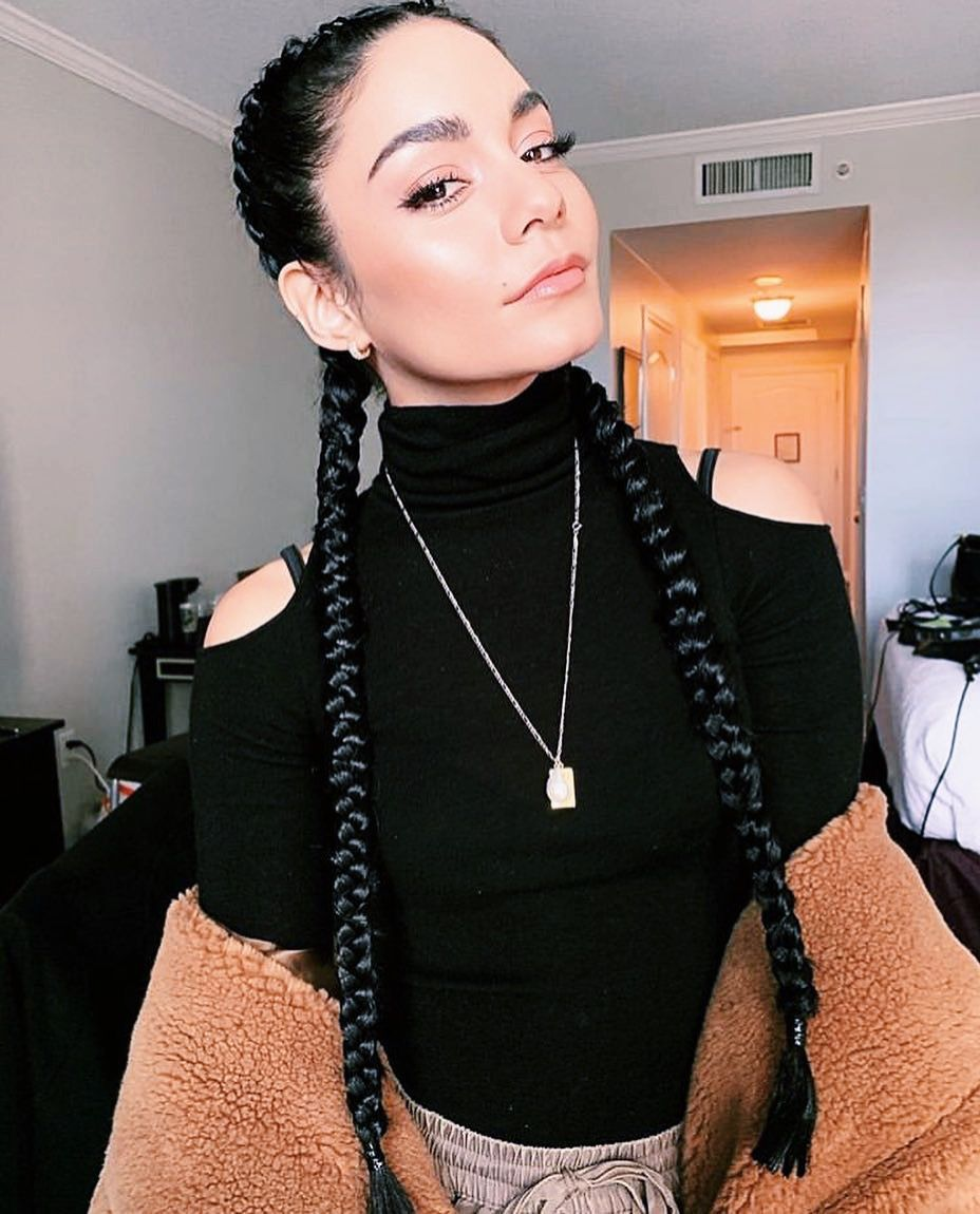 Boxer Chic Vanessahudgens Elevates Our Cmcmusthave Turtleneck