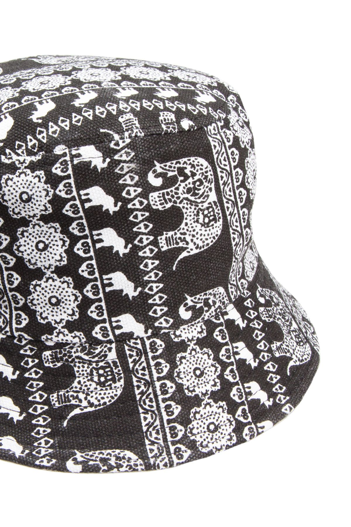 26c5d1afa77 Black Elephant Print Bucket Hat - Ragstock