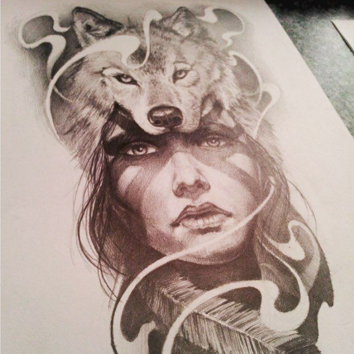 Tattoos Wolf Tattoos Headdress Tattoo: Pin By Rachie On Drawings And Sketches