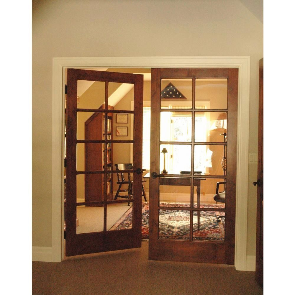 Krosswood Doors 60 In X 80 In Rustic Knotty Alder 10 Lite Both Active Solid Core Wood Double Prehu In 2020 Prehung Interior Doors Doors Interior Glass Doors Interior