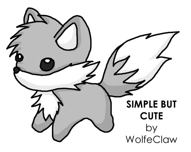 Simple but cute by s wolf on deviantart tattoos for Cute simple drawings