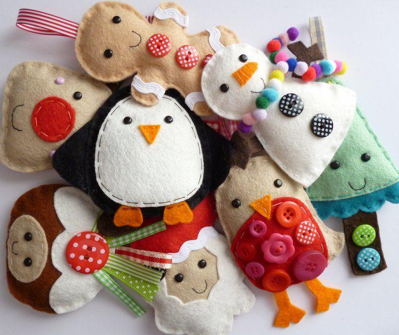 ... Hand Sewn Christmas Decorations