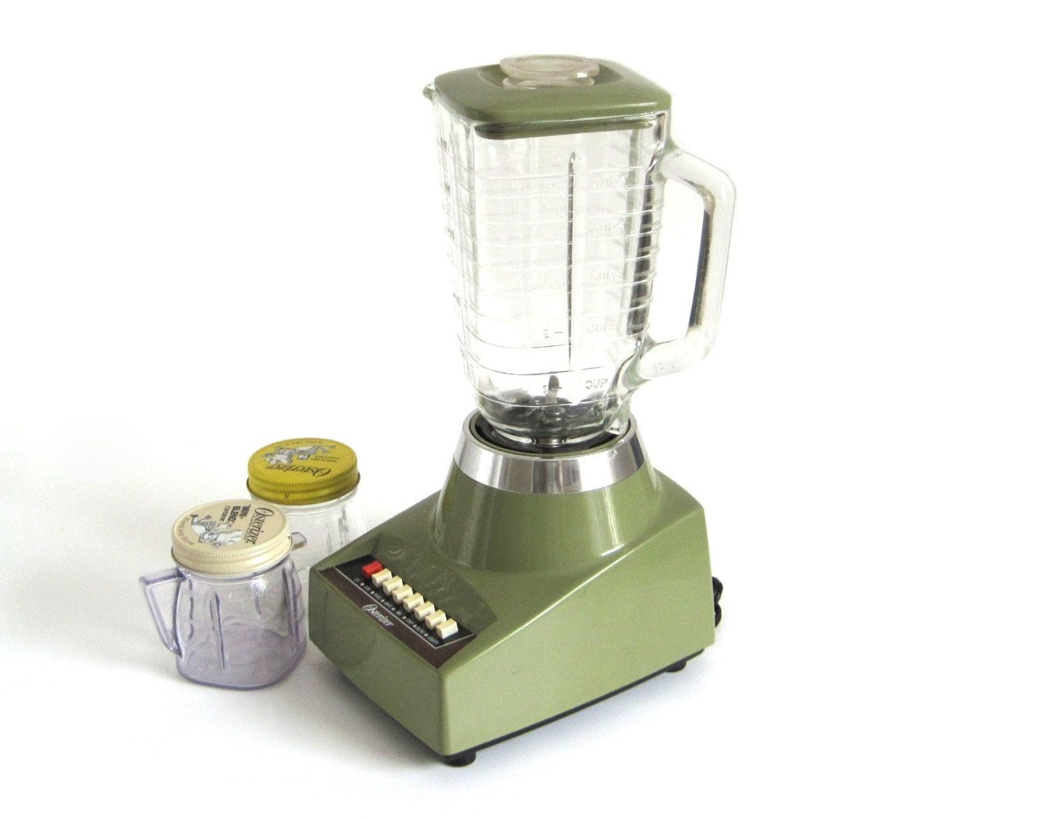 Oster Blender Made in USA 1970s Avocado Green Kitchen Appliance ...