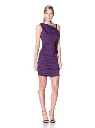 Jessica Simpson Women's Draped Dress with Shoulder Tie (Acai)