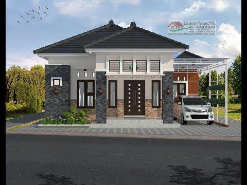 modern house (7,05 x 10 + leter l) 3 k. tidur. desain