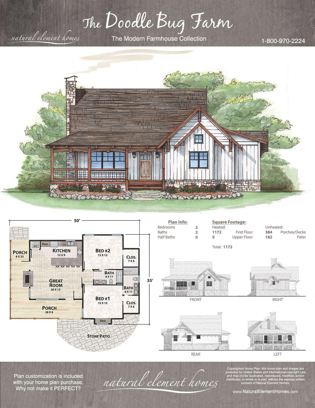 Doodle Bug Farm Natural Element Homes Farmhouse Sims House Plans Dream House Plans Cottage Plan