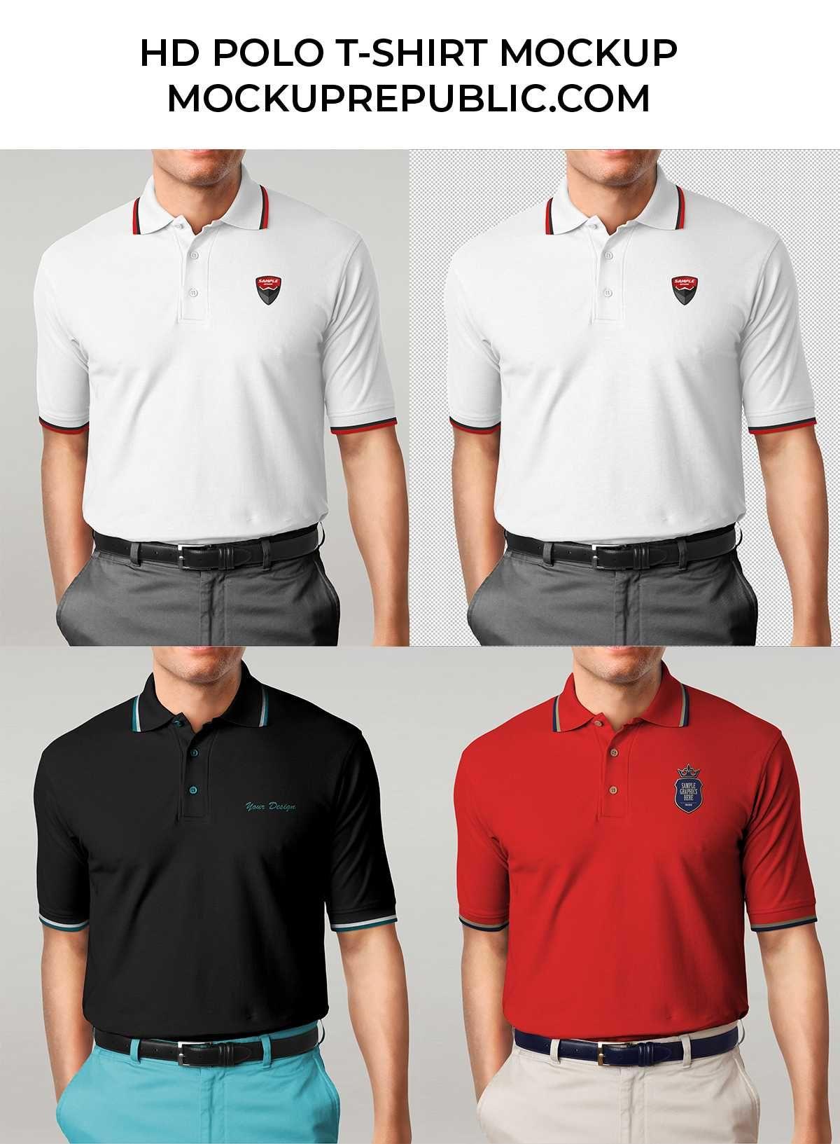Polo T Shirt Mockup Front And Back Psd Free Hd Man Polo T Shirt Mockup