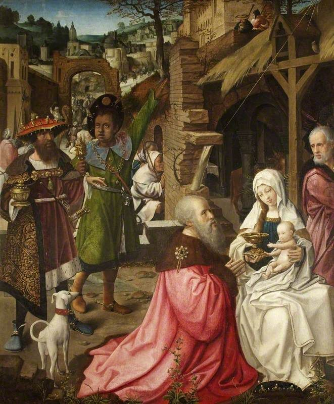 Jan Provoost : The Adoration of the Magi and Shepherds (Stourhead - National Trust  (United Kingdom - Warminster)) 1465-1529 ヤン・プロヴォスト