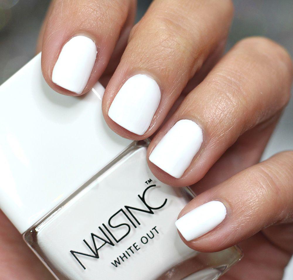 Nails inc gel nail colors and gel nail polish on pinterest - Nails Inc White Out Nail Polish Swatches