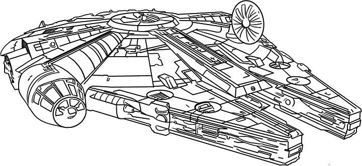 Millennium Falcon Close Up Star Wars Colors Drawing Stars