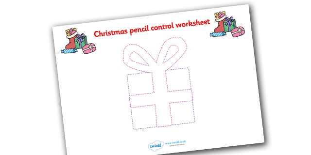 Twinkl Resources >> Christmas Pencil Control Worksheets