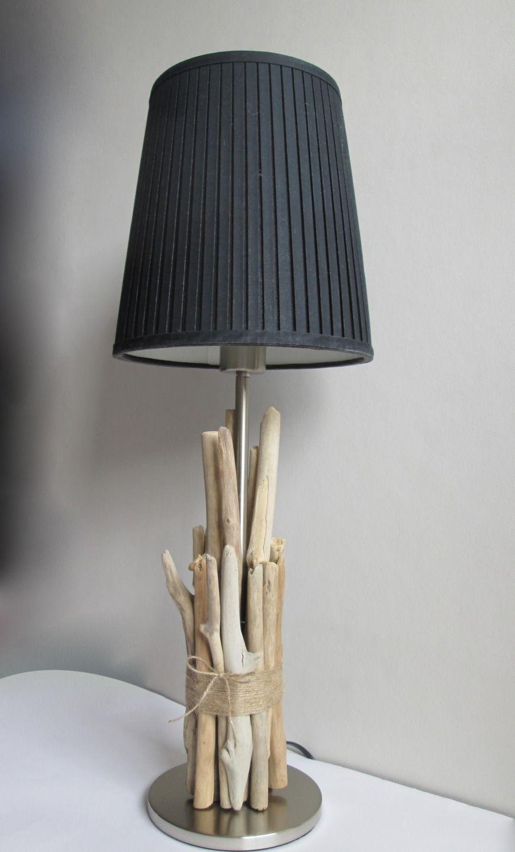 Pied de lampe en bois flotté Grand mod¨le Luminaires par maskott