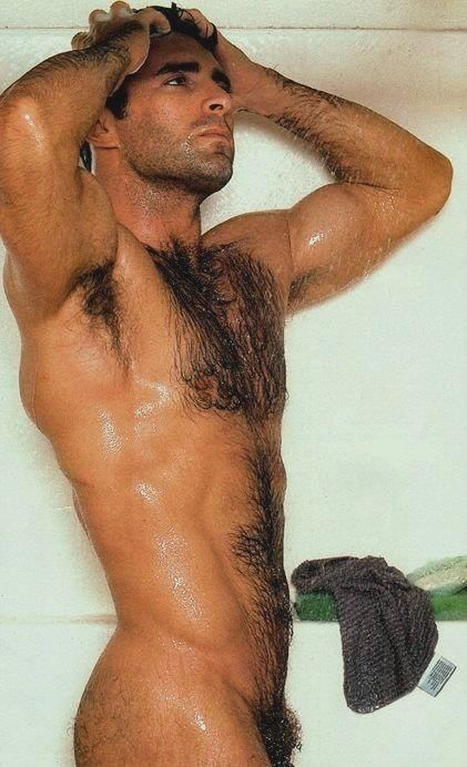 Hairy men in the shower want examine