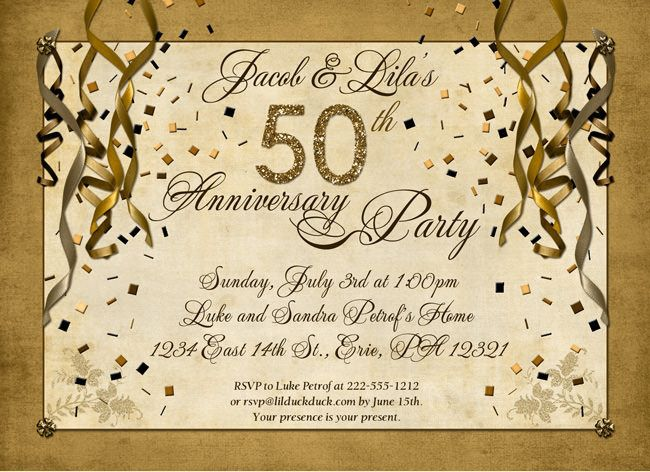 50th anniversary party ideas - Google Search   Anniversary party ...