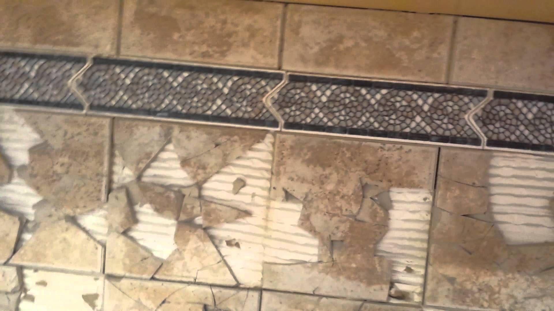 Tile Backsplash Removal Without Drywall Damage Youtube Tile