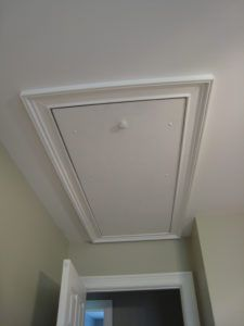 Pull Down Attic Door Cover & Pull Down Attic Door Cover | http://shopgreenbeing.com | Pinterest ...