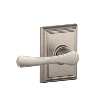 Schlage Avila Lever Handle With Addison Rosette In Brushed