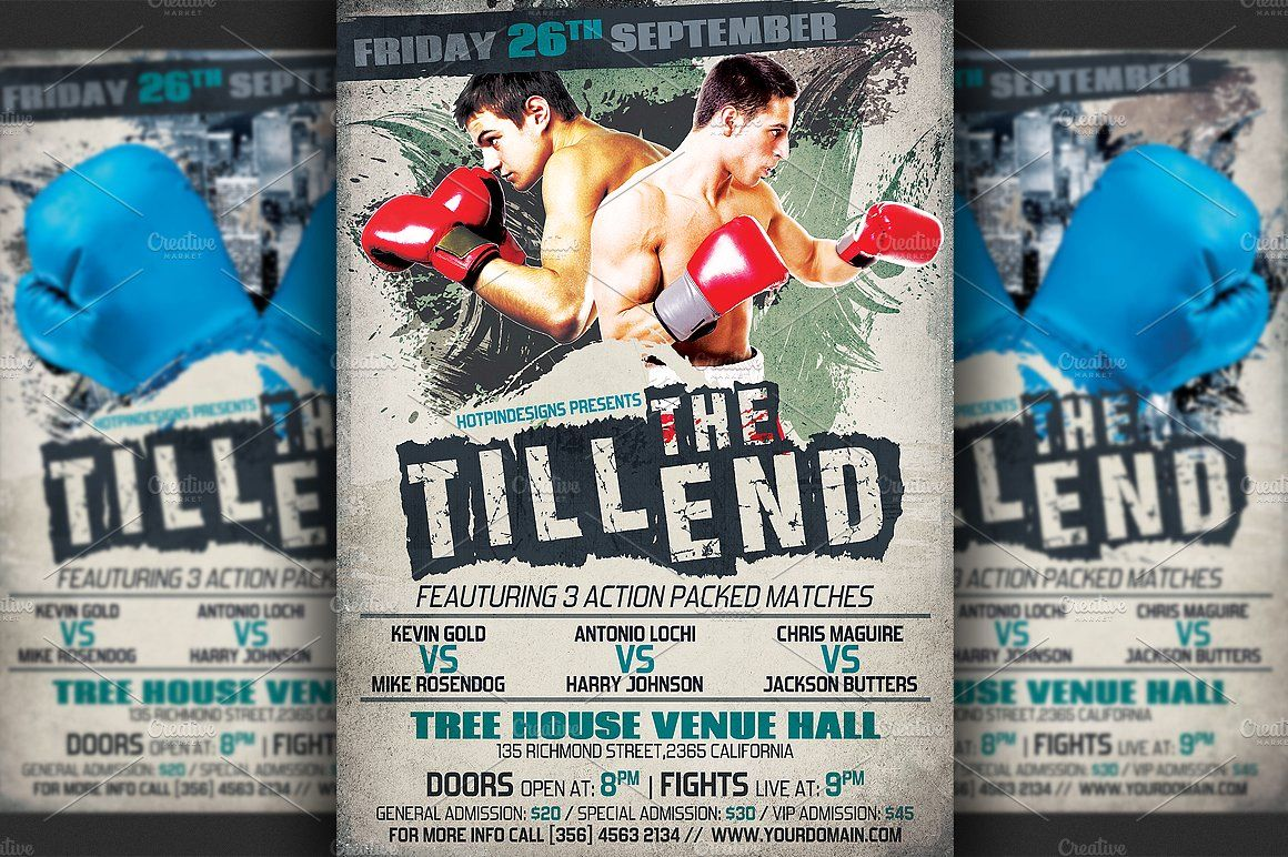 Boxing Flyer Template Flyer Template Flyer Photoshop Flyer