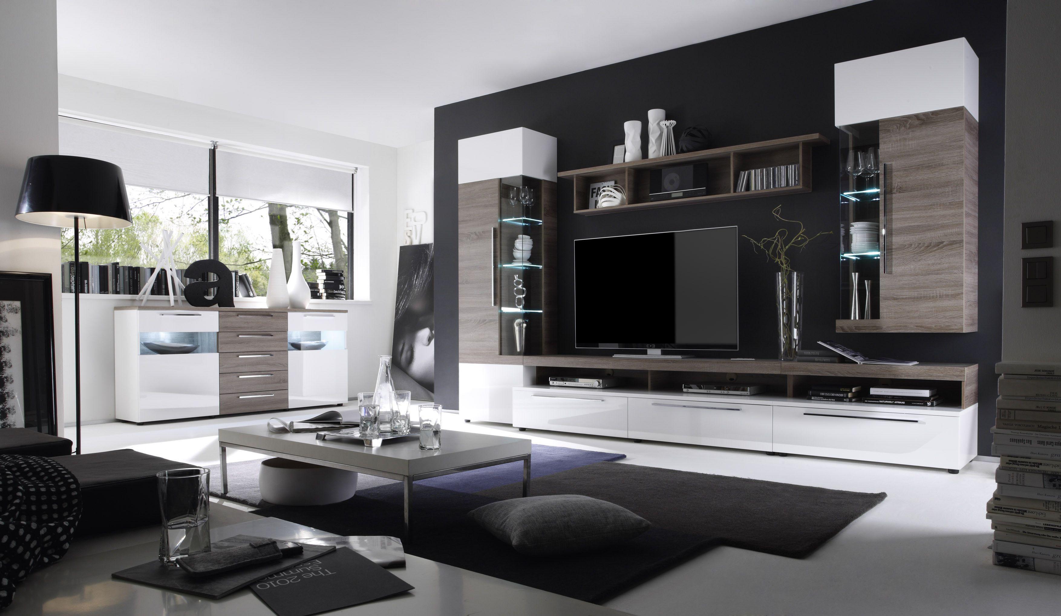wohnzimmer streichen rot grau  White living room set, Modern