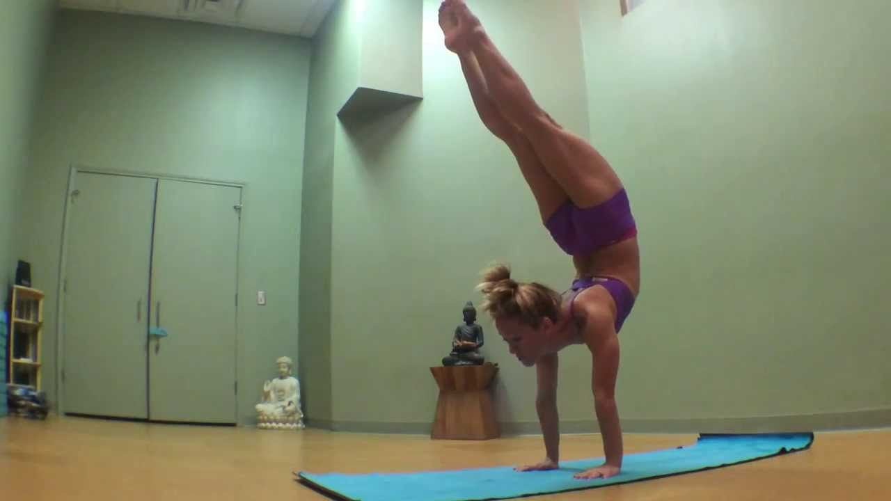 Yoga Handstand Backbend Transition with Kino   Yoga handstand ...