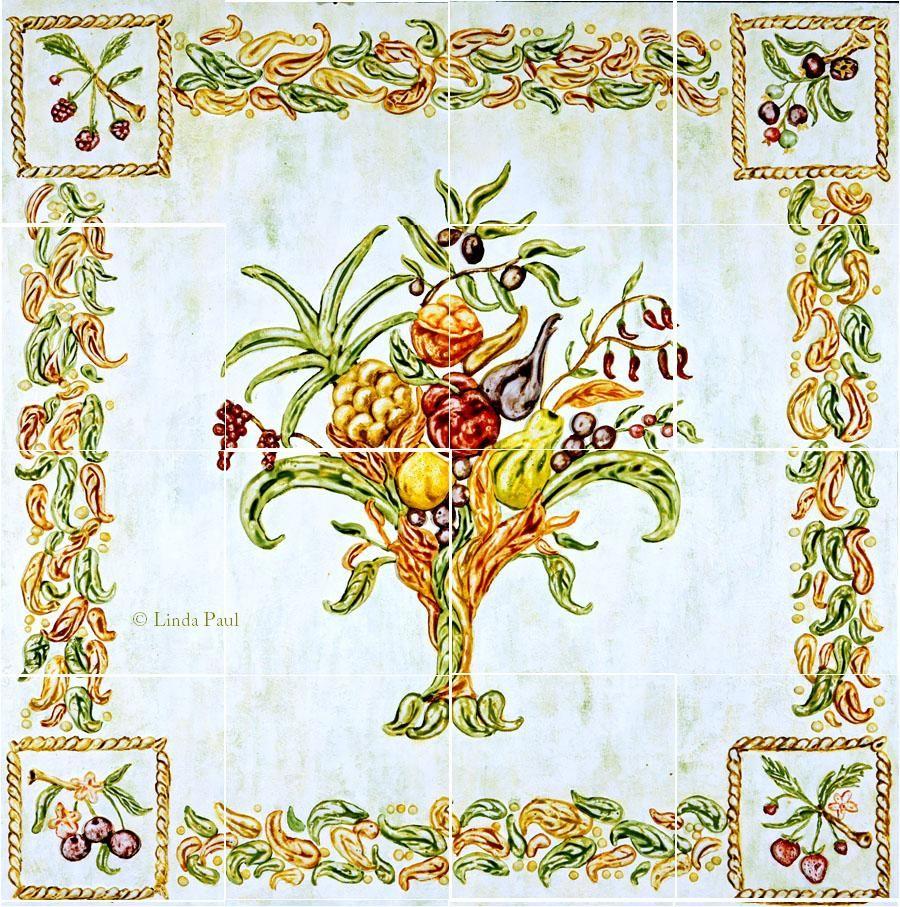 italian design - still life kitchen tile backsplash mural | deruta
