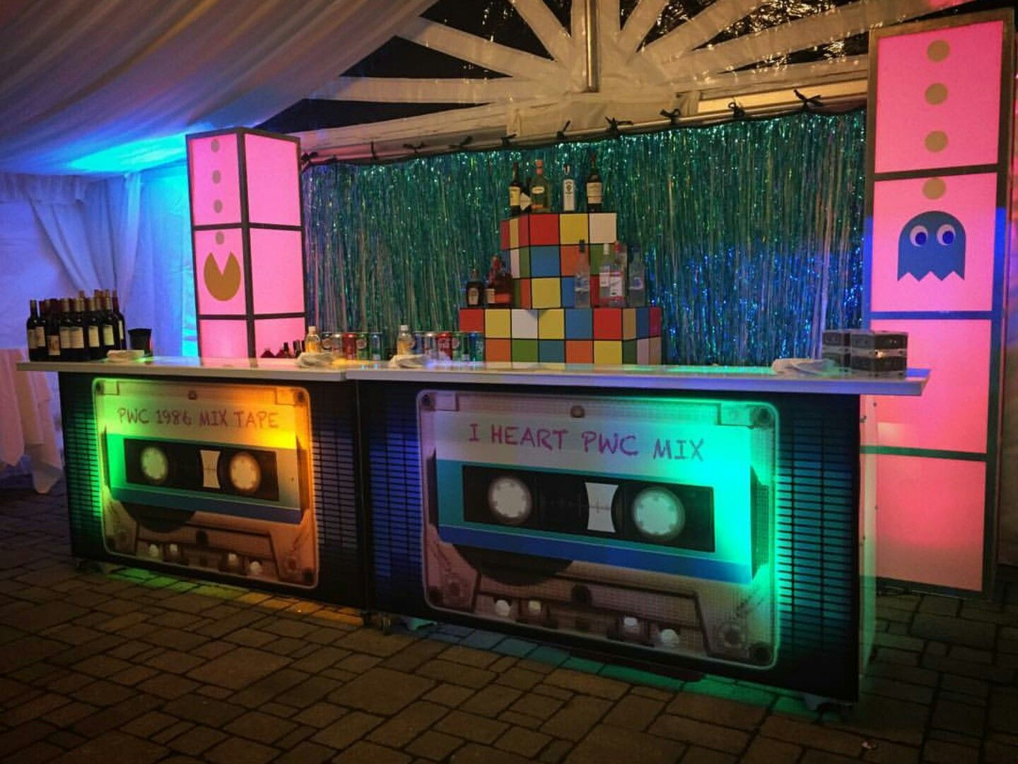 An '80's themed event deserves this '80's themed DJ booth