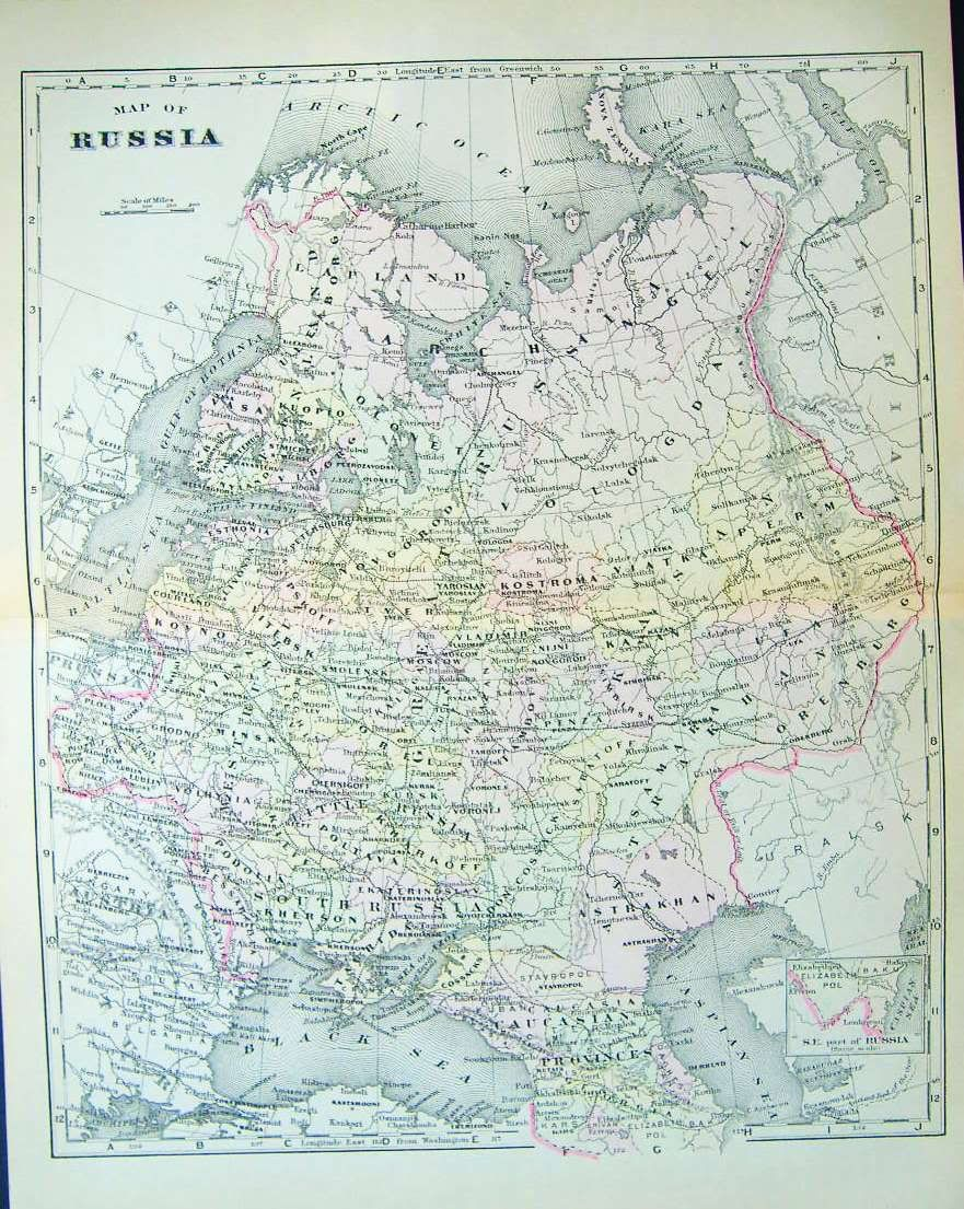 Russia Map 1900 World Of Maps Pinterest Russia Map Map And Moscow