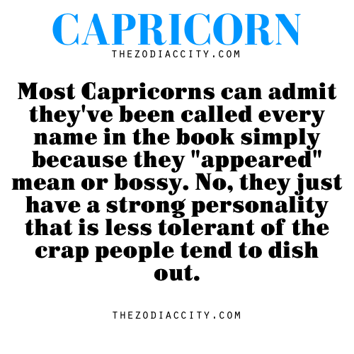 Are capricorns mean